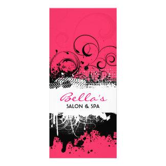 Carte grunge florale de support carte double customisable