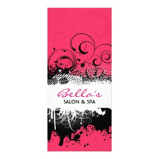 Carte grunge florale de support motif pour double carte