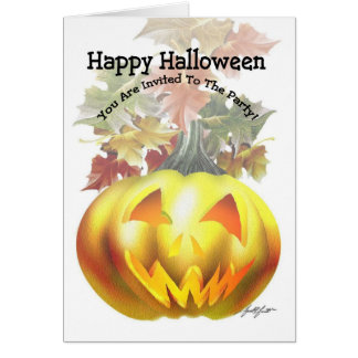 Carte heureuse de Halloween (PARTIE)