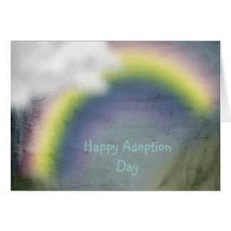 carte heureuse de jour d'adoption