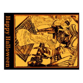 Carte heureuse de partie de Halloween 1902 Carte Postale