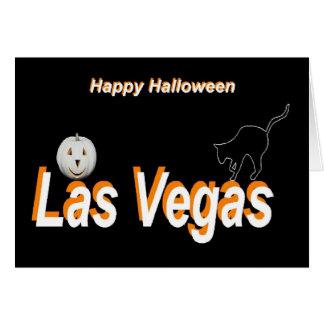 Carte heureuse de partie de Las Vegas Halloween