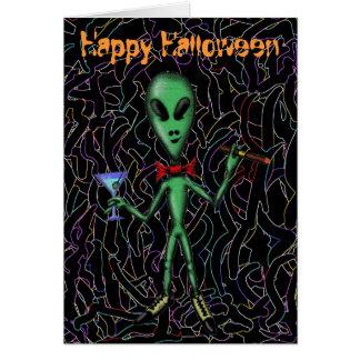 Carte heureuse étrangère de Halloween de partie dr