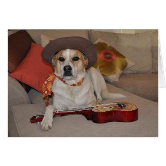 Carte humoristique avec la photo du chien dans le