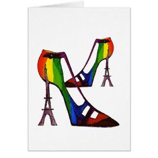 Carte humoristique de chaussure d'imaginaire