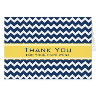 Carte jaune bleue d'anniversaire des employés de C