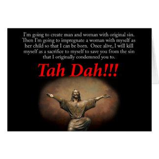 Carte Jésus.  Tah Dah ! ! !  Noël