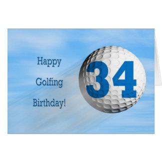 carte jouante au golf de trente-quatrième