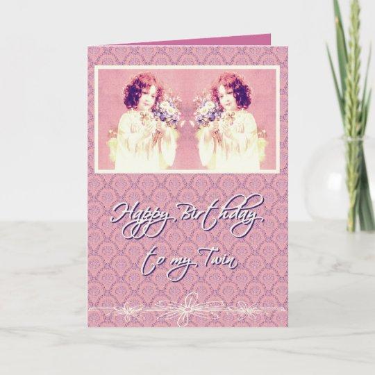 Carte Joyeux Anniversaire A Ma Soeur Jumelle Zazzle Ca