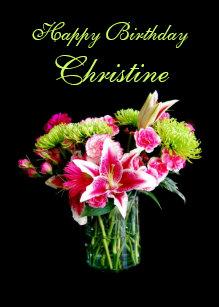 Cadeaux Joyeux Anniversaire Fleurs Roses Noir Zazzle Ca