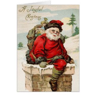 Carte Joyeux Noël victorien vintage démodé 15