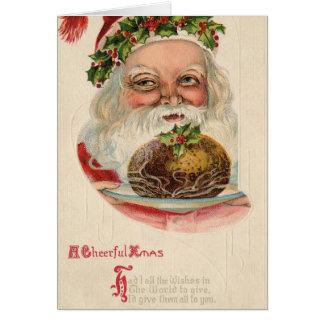 Carte Joyeux Noël victorien vintage démodé 19