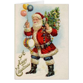 Carte Joyeux Noël victorien vintage démodé 20