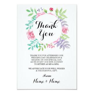 Carte La couleur pour aquarelle florale de Merci fleurit