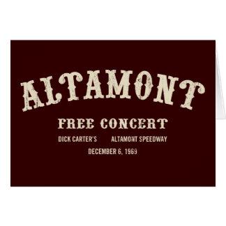 Carte l'altamont libèrent le concert