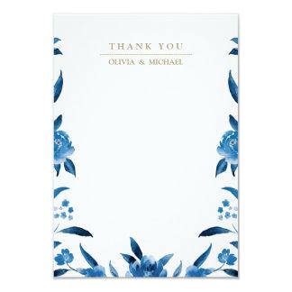 Carte Le mariage floral bleu de Chinoiserie vous