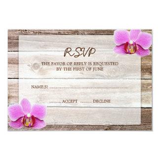 Carte l'épousant en bois de réponse de la grange carton d'invitation 8,89 cm x 12,70 cm