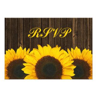 Carte l'épousant en bois de réponse de la grange R Invitation Personnalisée