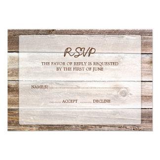 Carte l'épousant en bois de réponse de la grange r bristols