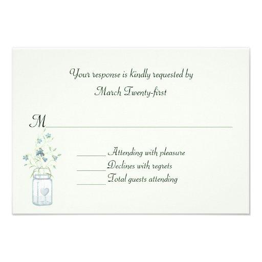 Carte l'épousant faite sur commande bleue avec du  invitations personnalisables