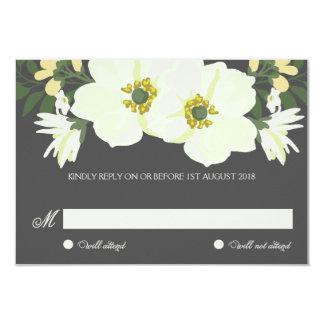 Carte l'épousant florale des jolies anémones carton d'invitation 8,89 cm x 12,70 cm