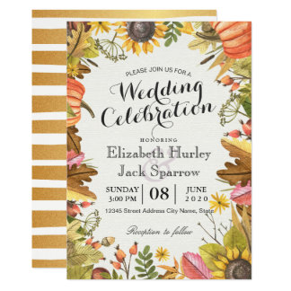 Carte L'érable d'automne d'automne de wedding shower