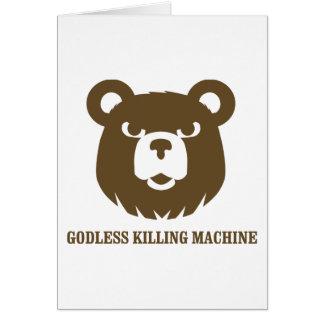 Carte les machines athée de massacre d'ours câlinent le