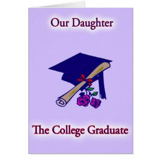 Carte licenciée de fille d'université