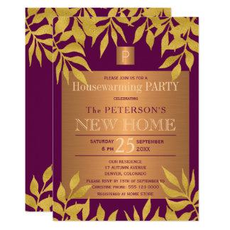 Carte L'or pourpre part du parti décoré d'un monogramme