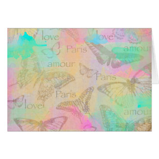 Carte Love Paris Amour Wraps white included Card