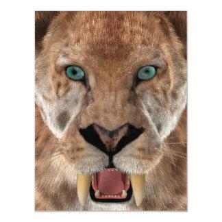 Carte Magnétique Sabre Ttiger ou Smilodon denté