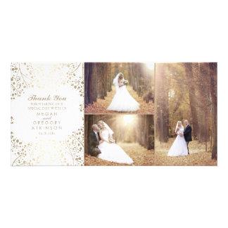 Carte Merci élégant de photo de mariage du souffle du