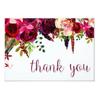 Carte Merci floral de couleur d'eau
