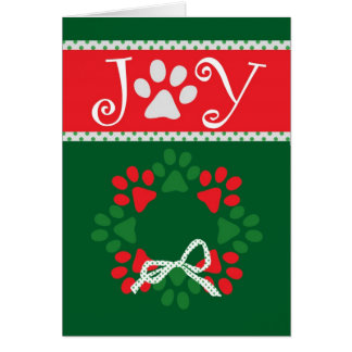 Carte mignonne d empreintes de pattes de Noël