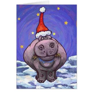 Carte mignonne de vacances d'hippopotame
