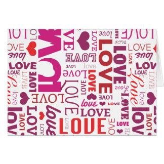 Carte mignonne de valentines d'amour de typographi