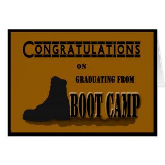 Carte militaire d obtention du diplôme de Boot Cam