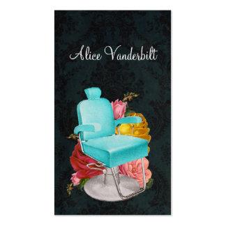 Carte minable vintage de styliste de chaise de sal cartes de visite professionnelles