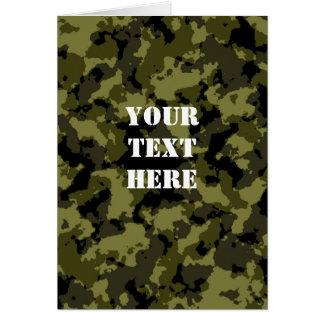 Carte Motif militaire de style de camouflage