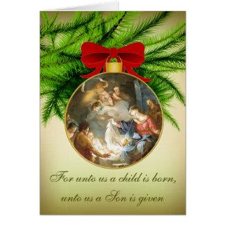 Carte Naissance de Jésus de nativité d'ornement de Noël