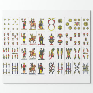 Carte Napoletane wrapping paper