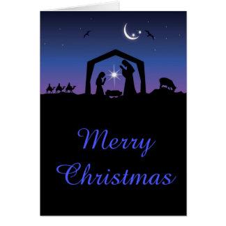 Carte Nativité de Joyeux Noël de Jésus