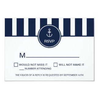 Carte nautique de la marine RSVP Carton D'invitation 8,89 Cm X 12,70 Cm