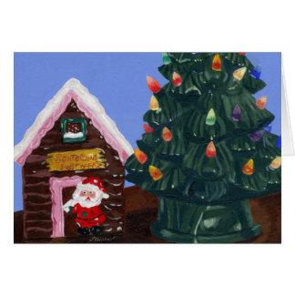Carte Noël démodé