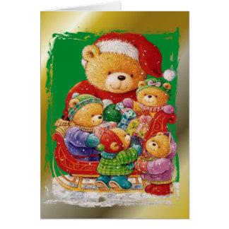 Carte Noël d'ours de nounours