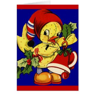 Carte Noël mignon jaune