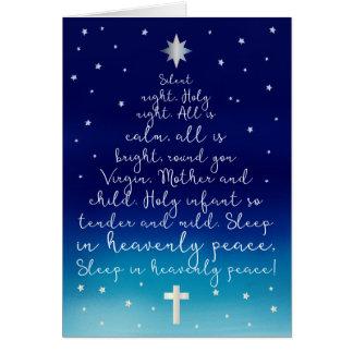 Carte Noël saint de chrétien de nuit de nuit silencieuse