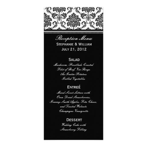 Carte noire et blanche de support de menu de maria double carte personnalisée
