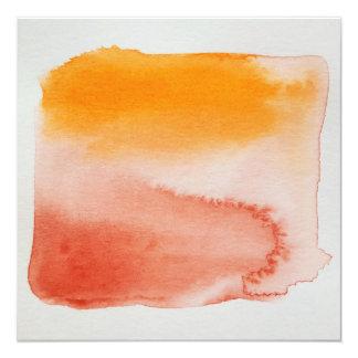 Carte orange de Brown d'horizons pour aquarelle Carton D'invitation 13,33 Cm
