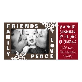 Carte Paix d'amis de famille et Noël d'amour
